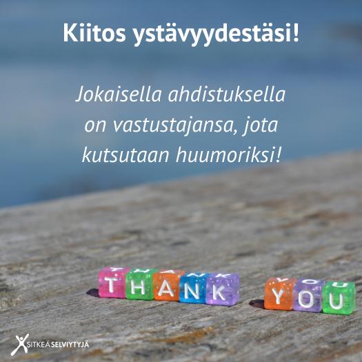 Kiitos ystävyydestäsi